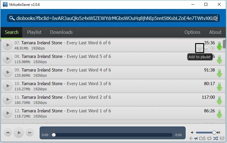 VkAudioSaver Add to Playlist