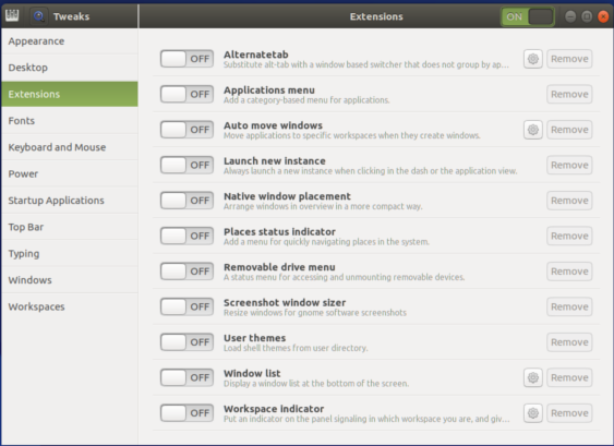 Gnome 3 Extensions