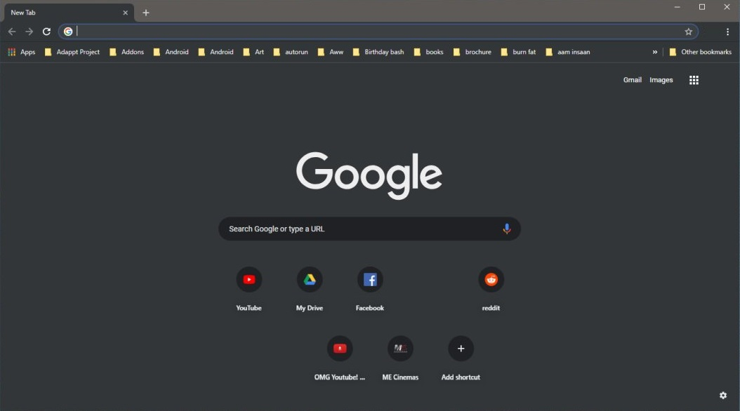 Google Chrome Dark Mode in Windows
