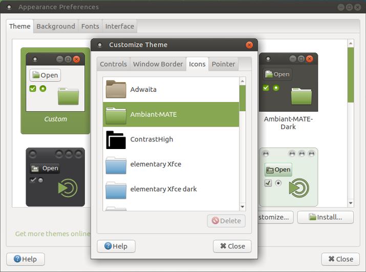 Mate Desktop Icon Customization