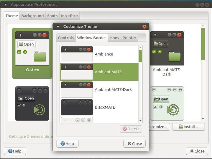Mate Desktop Window Manager