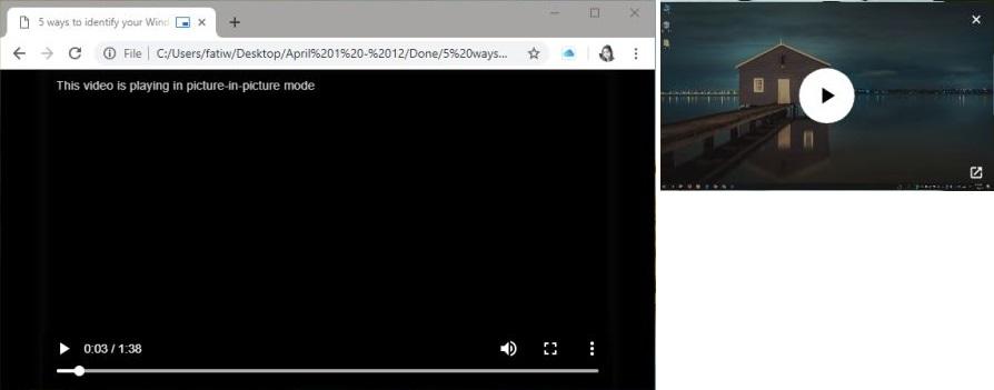 PIP Google Chrome for Local Videos