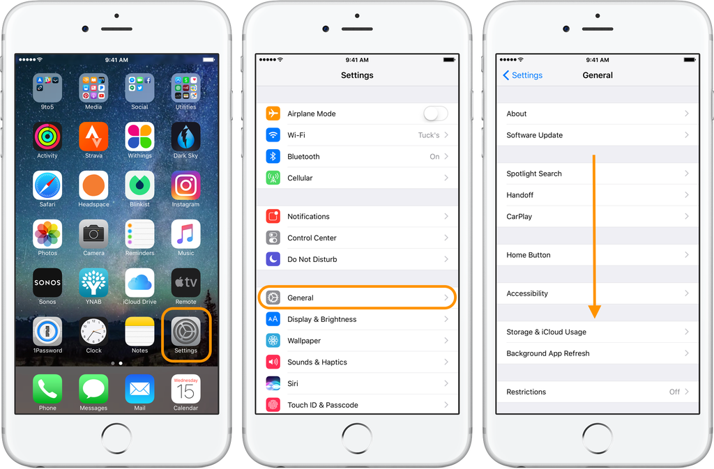 Storage and iCloud Usage in iOS