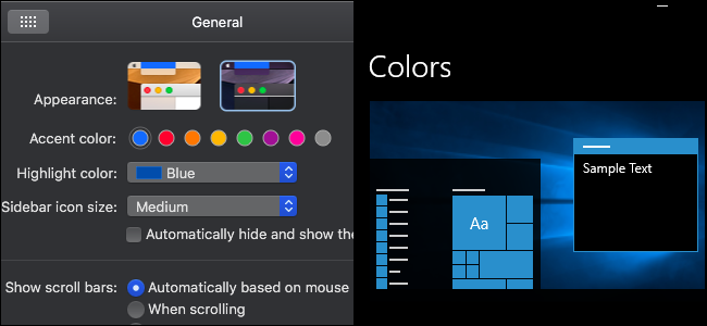 Change MacOS Colors