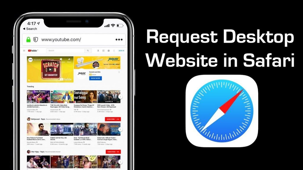 Safari Desktop YouTube Site
