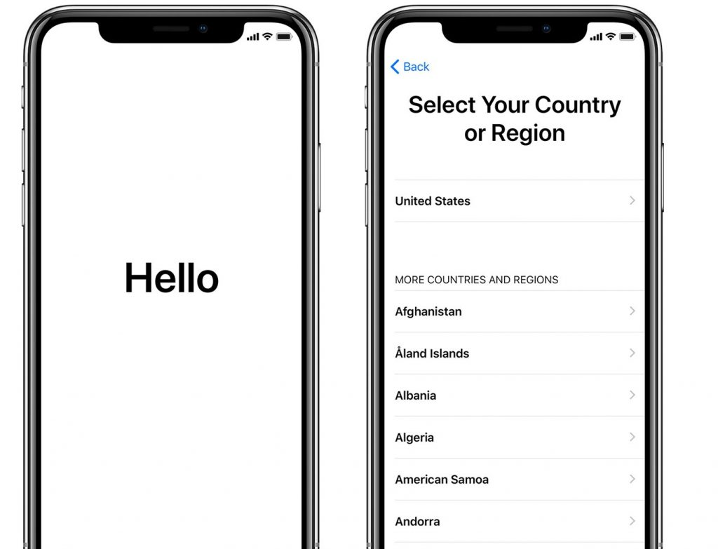 Select Country for iPhone