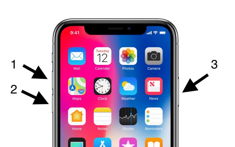 Soft Reset iPhone X