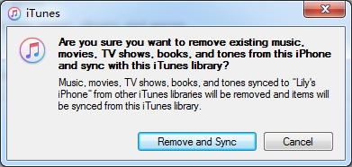 iTunes Remove and Sync