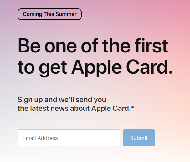 Apple Card Signup