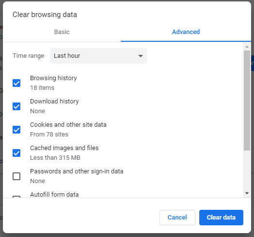 Clear Browsing History of Chrome for a Specific Time Interval