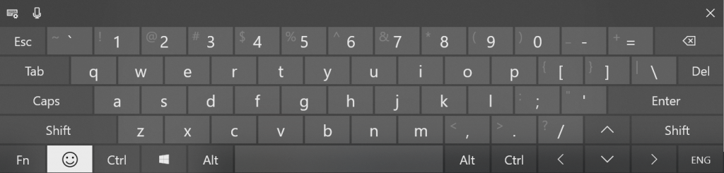 Emoticons in Touch Keyboard