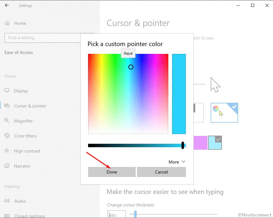 Windows Pointer Color