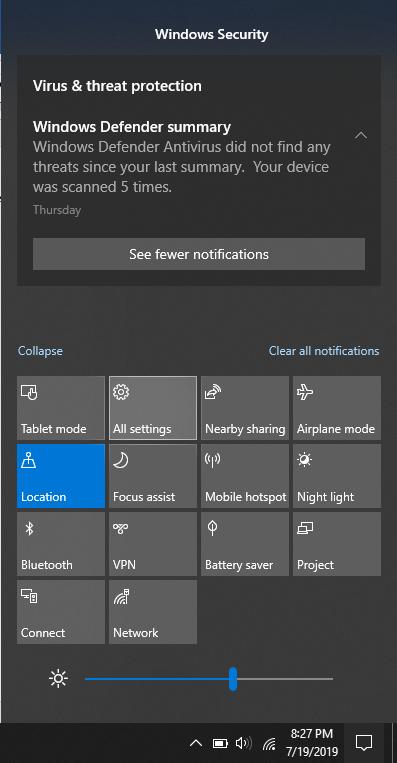 All settings