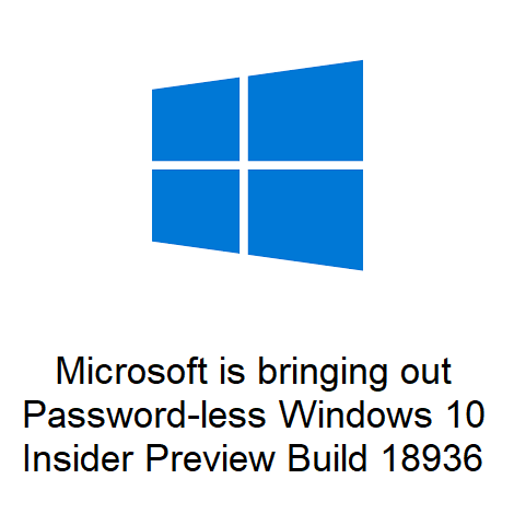 Microsoft is bringing out Password-less Windows 10 Insider Preview Build 18936