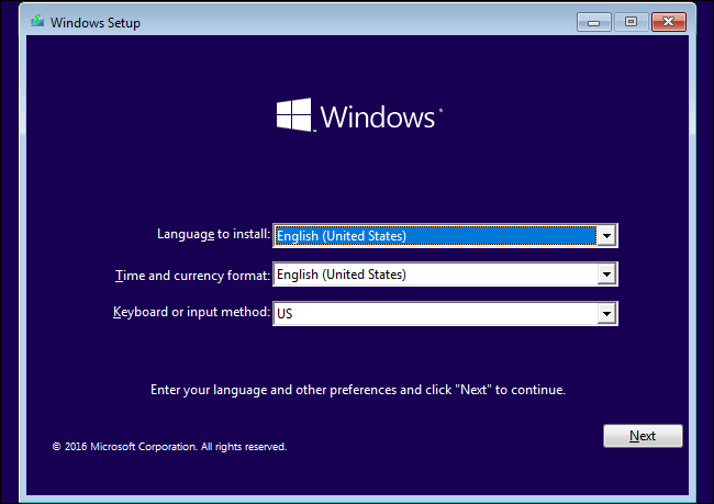 Select language time