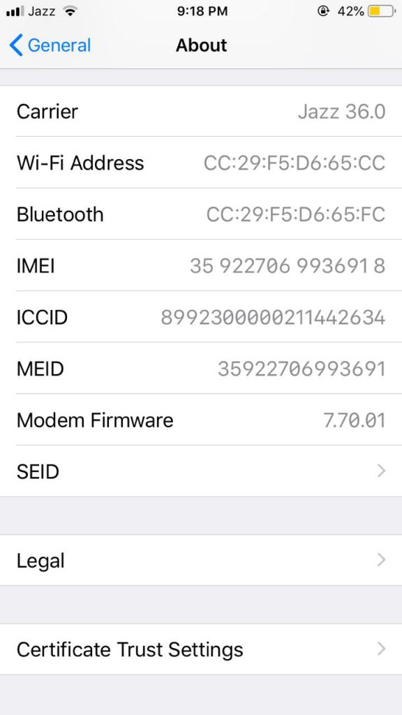 IMEI Number of iPhone