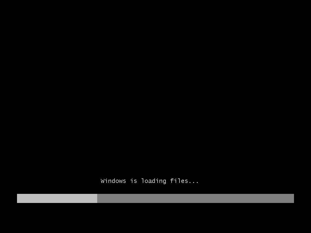 Windows is loading files