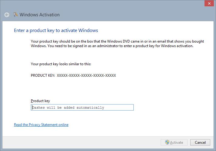 enter windows 7 product key