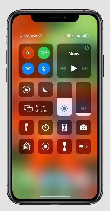 iOS 13 Control Center