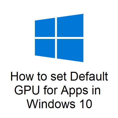 How to set Default GPU for Apps in Windows 10