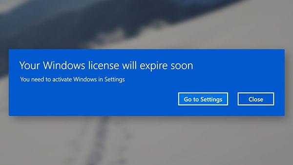 Your windows will expire soon