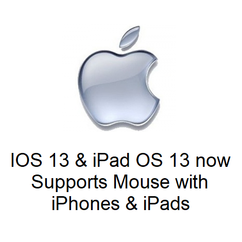 IOS 13 & iPad OS 13 now Supports Mouse with iPhones & iPads