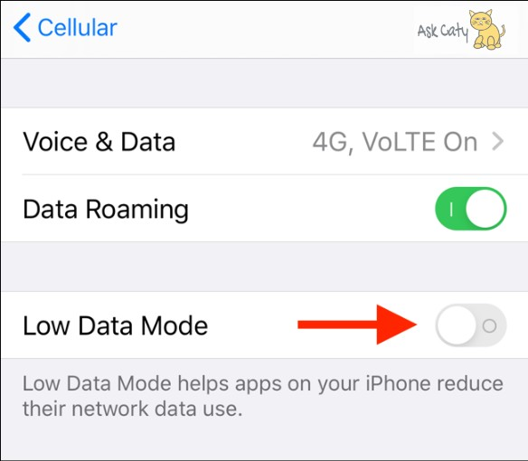 How to Enable Low Data Mode for Cellular 3