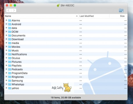 How to transfer files from Android to Mac OS - 3