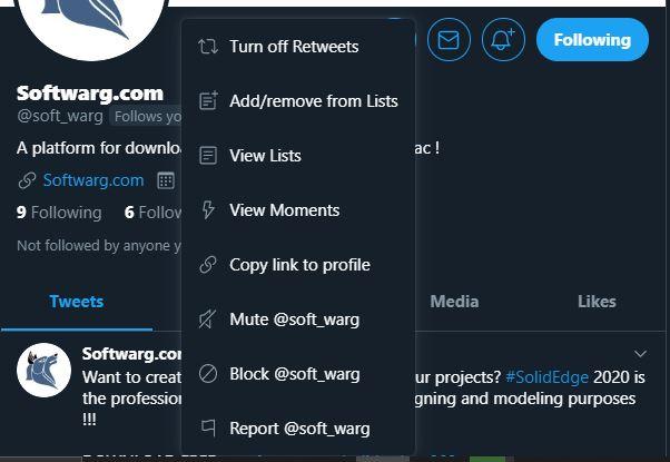 block username