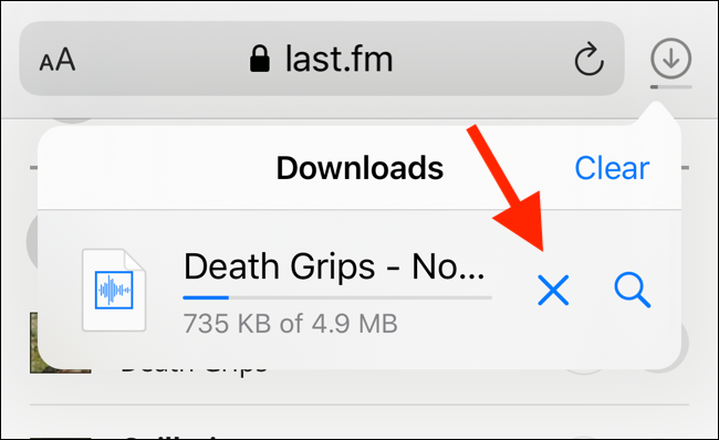 Cancel the Download