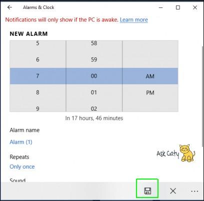 How to Set Alarm in Windows 10- 5