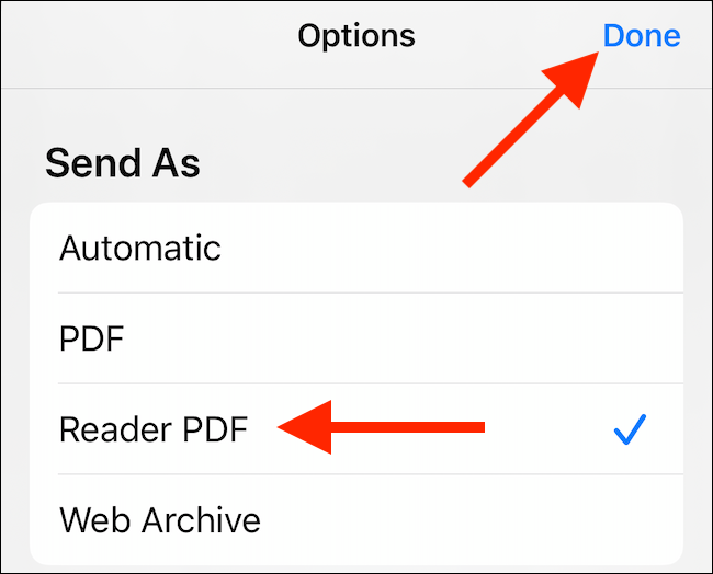 select the pdf format