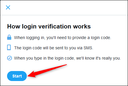 start two factor authentication