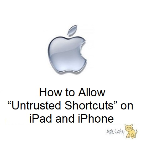 "How to Allow ""Untrusted Shortcuts"" on iPad and iPhone"