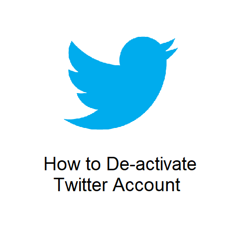 How to De-activate Twitter Account