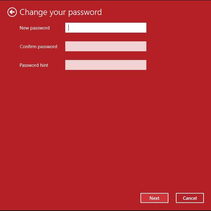 Type the new password
