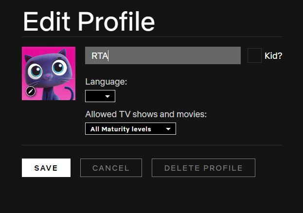 change the username and edit profile settings