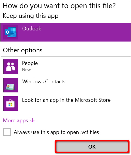 choose which app to use to open the file
