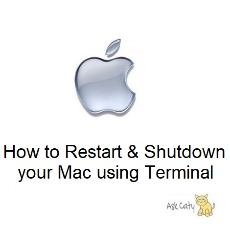 How to Restart & Shutdown your Mac using Terminal
