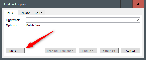 more options in advanced search