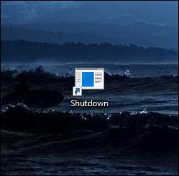 shutdown icon will appear on the desktop