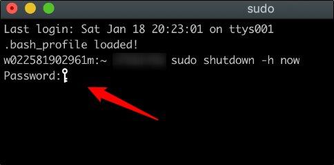 sudo command and password