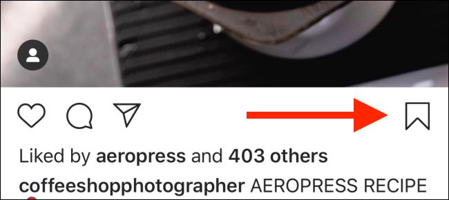 tap on bookmark icon