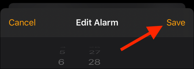 tap on save option to select the custom alarm
