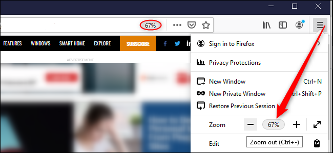 zoom in particular site in mozilla firefox