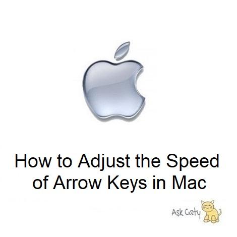How to Adjust the Speed of Arrow Keys in Mac
