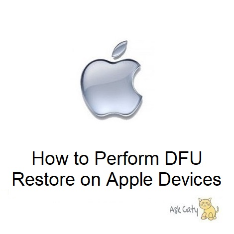 How to Perform DFU Restore on Apple Devices
