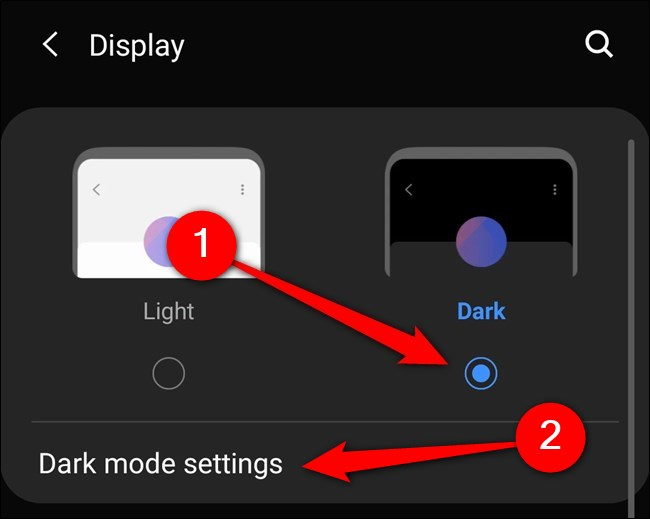 tap on dark button to enable it