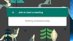 Join or start a meeting in google meet