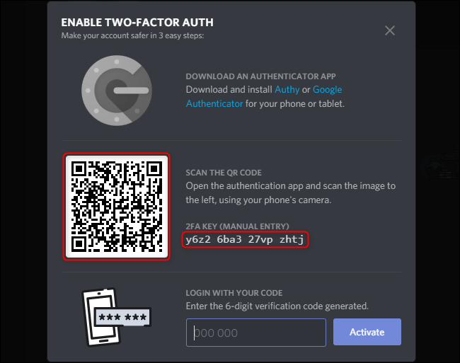 download the authenticator app